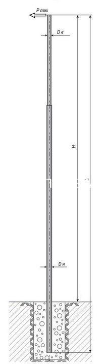 Опоры уличного и наружного освещения металлические оцинкованные