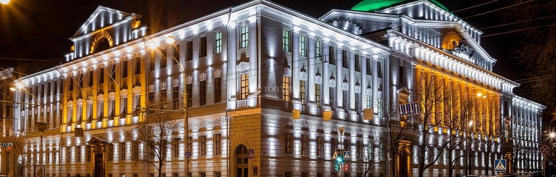 Металлоконструкции для Архитектурно-художественной подсветки фасадов зданий